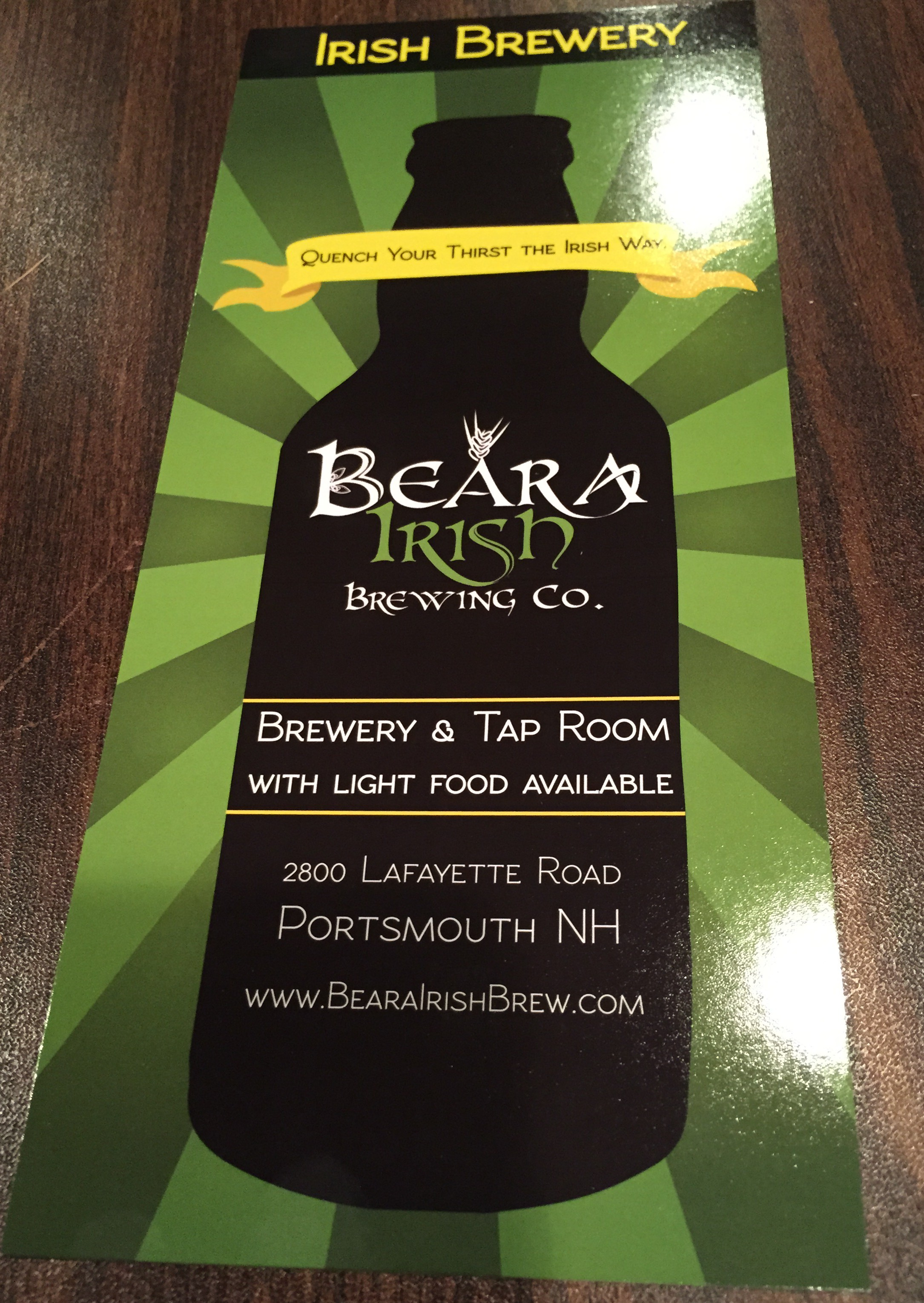 Beara irish brewing portsmouth nh breweries wineries for Michaels crafts newington nh